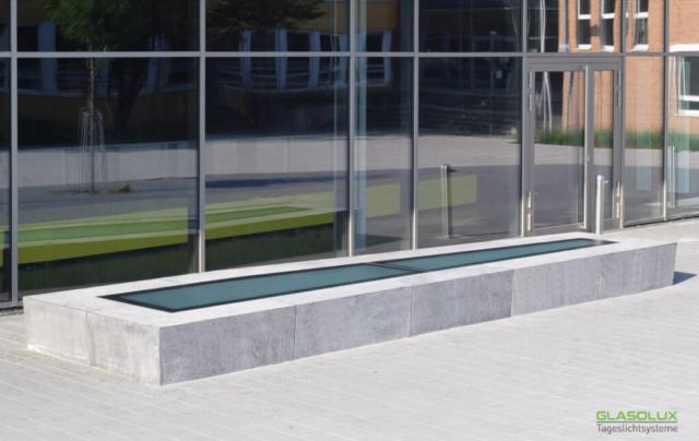freiformatige, begehbare Oberlichter WALK-ON Free mit Pixelflooring