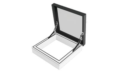 Piktogramm des zu öffnenden Rauchabzugs-Oberlichts SkyVision ACCESS