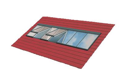 Piktogramm einer Lichtband-Verglasung
