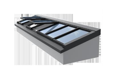 Piktogramm einer Pultdach-Verglasung