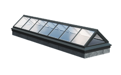 Piktogramm einer Satteldach Verglasung