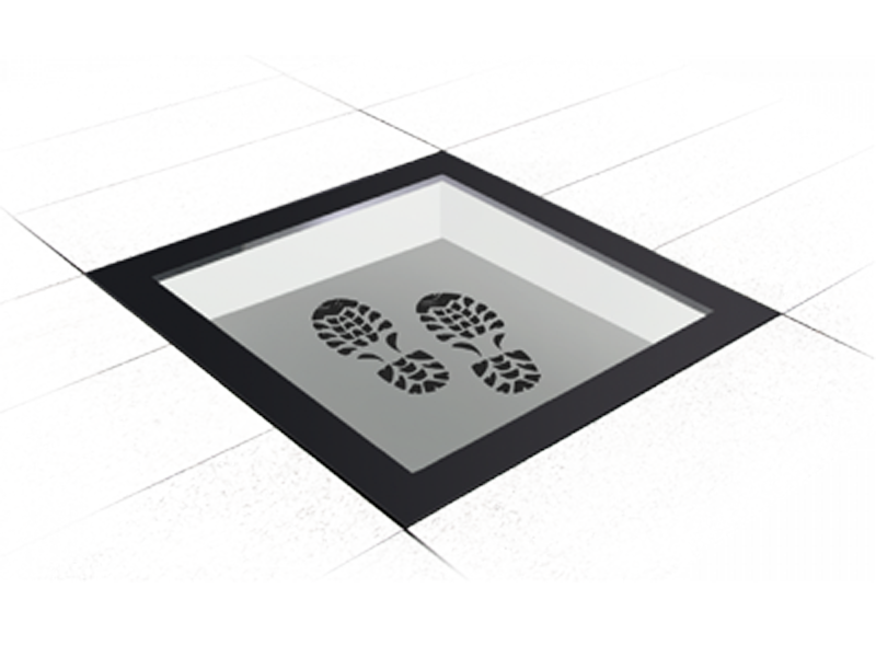 Walk-On rectangular skylight