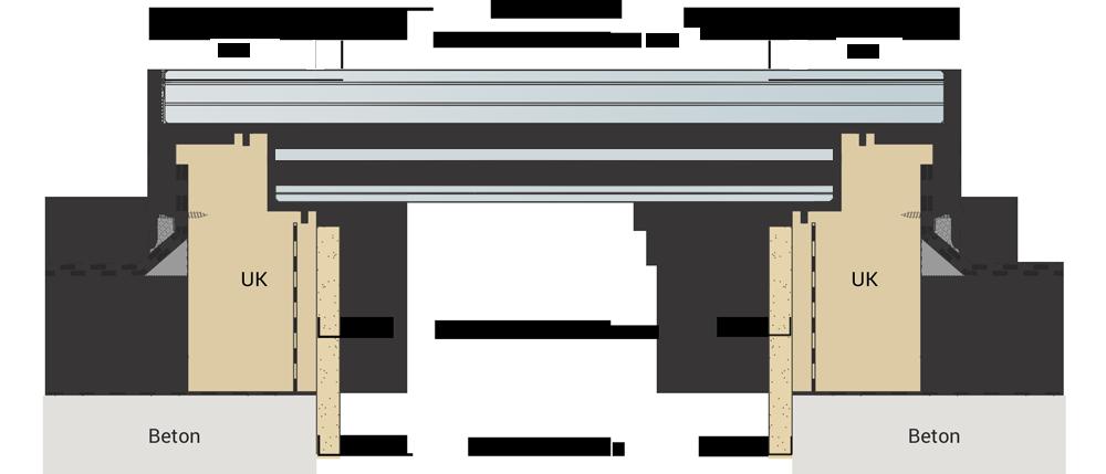 Technische Zeichnung rundes Oberlicht CIRCULAR WALK-ON