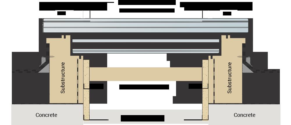 Technical drawing CIRCULAR WALK-ON