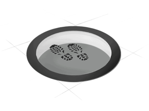 CIRCULAR WALK-ON: the walk-on round skylight